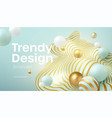 abstract background with 3d geometric shapes vector image vector image
