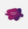 abstract liquid banner design vector image