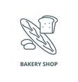 bakery shop line icon linear concept vector image vector image