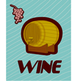 banner with a barrel of wine vector image vector image