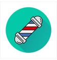 barbershop element icon on circle vector image vector image