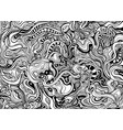 black and white abstract decorative intricate vector image vector image