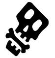 bone square skull stencil vector image vector image