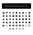 branding and design icon set with black color vector image