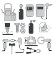 building and repair tools welding and sawing vector image vector image