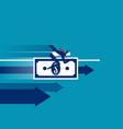 businessman money rides concept business success vector image vector image