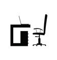 chair with computer vector image