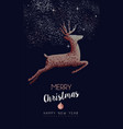 christmas and new year copper mosaic greeting card vector image vector image