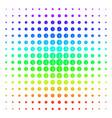 clock icon halftone spectrum effect vector image vector image