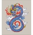 Colorful of Chinese oriental Dragon vector image vector image