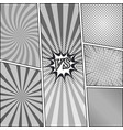 comic book monochrome backgrounds set vector image vector image