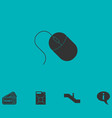 computer mouse icon flat vector image
