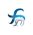 creative letter f swoosh logo template logo for vector image vector image