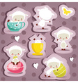 Cute easter stickers vector image vector image