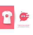 cute face response on t-shirts vector image