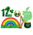 design elements collection for st patricks day vector image vector image