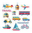 digital blue red yellow travel vector image vector image