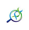 dna lab logo design template vector image