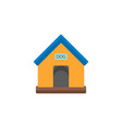 doghouse flat icon vector image vector image