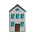 drawing real state house two floor vector image vector image