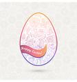 Easter egg made of flowers floral Easter egg vector image vector image
