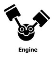 engine icon simple black style vector image vector image