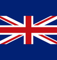 english flag flat layout vector image