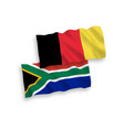 flags belgium and republic south africa on a vector image vector image