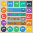 Folder icon sign Set of twenty colored flat round vector image vector image