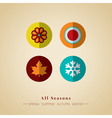 four seasons icon symbol vector image