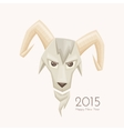 Goat With Rounded Horns vector image vector image