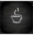 hand drawn cup coffee vector image vector image