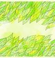 hand drawn seamless green invitation card vector image vector image