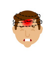 headache head pain and barbed wire metaphor vector image vector image