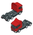 Heavy truck with the trailer 3D isometric vector image