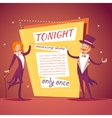 Host Lady Girl Boy Man in Suit with Cane and vector image vector image