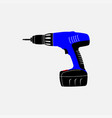 icon electric screwdriver repair vector image