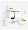 Infographic mobile phone 3d on white background vector image