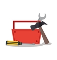 Isolated tools kit design vector image vector image