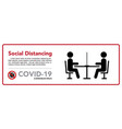 keep a social distance in restaurants and cafes vector image