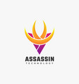 logo assassin gradient colorful style