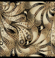 modern 3d paisley seamless pattern textured vector image vector image