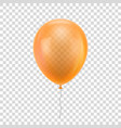 orange realistic balloon vector image