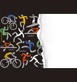 outdoor fitness icons background vector image vector image