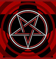 pentagram isolated occultism symbol star in vector image vector image