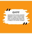 Quote Grunge Speech Bubble vector image