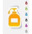 realistic design element liquid soap vector image
