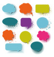 retro colorful speech bubble with white background vector image vector image