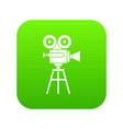 retro film projector icon digital green vector image vector image