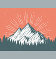 retro mountain postcard vector image
